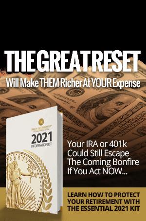 The Great Reset Burning Dollars Banner